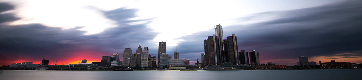 Downtown Detroit Silhouette